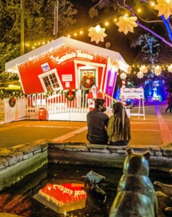 HOLLY JOLLY Downtown holiday displays all over the county will give you plenty to smile about as you finish up that shopping before the end of the year. - PHOTO BY JAYSON MELLOM