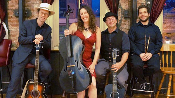 BAY AREA BLUEGRASS The Clark Center will stream a concert by Dirty Cello on Dec. 12, bringing blues, bluegrass, rock, and world music straight to your home. - PHOTO COURTESY OF DIRTY CELLO