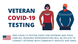 GET A TEST Veterans are invited to drop by the SLO Vets' Hall for free COVID-19 testing  on Dec. 18. - IMAGE COURTESY OF SLO COUNTY PUBLIC HEALTH