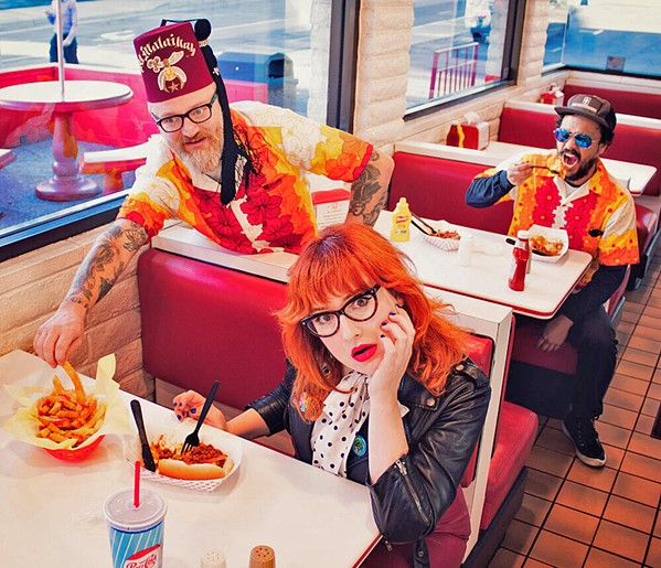 """AGING PUNKS UNITE! Hayley & The Crushers will release """"Church of Flag,"""" a tribute to old punks, on Dec. 20. - PHOTO COURTESY OF HAYLEY & THE CRUSHERS"""