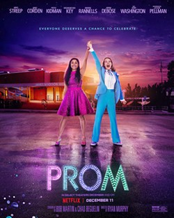 GLAMOUROUSLY INCLUSIVE Three Broadway stars get off their high horse to help Emma (Jo Ellen Pellman), who wishes to be accepted for who she is and take her girlfriend to the prom. - PHOTO COURTESY OF NETFLIX