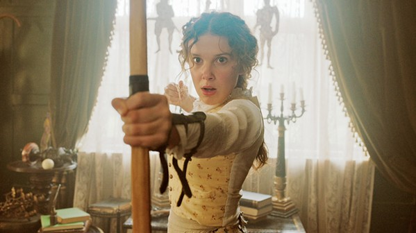 THE SMART ONE Millie Bobby Brown stars as Enola Holmes, famed detective Sherlock's whip-smart and capable younger sister, who goes in search of her missing mother and protects a runaway young lord from being murdered, in Enola Holmes, screening on Netflix. - PHOTO COURTESY OF LEGENDARY ENTERTAINMENT