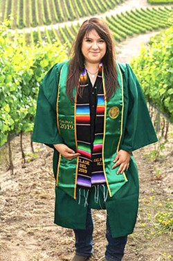 """IN GOOD COMPANY """"In an industry as complex as viticulture working in a state as regulated as California, there's an entire army of office staff required to put paperwork in order and keep people safe,"""" Matt Kettmann writes, in a profile of Wendy Robles (pictured), who started working for Coastal Vineyard Care Associates upon graduating from Cal Poly SLO. - COURTESY PHOTOS BY © MACDUFF EVERTON 2020"""