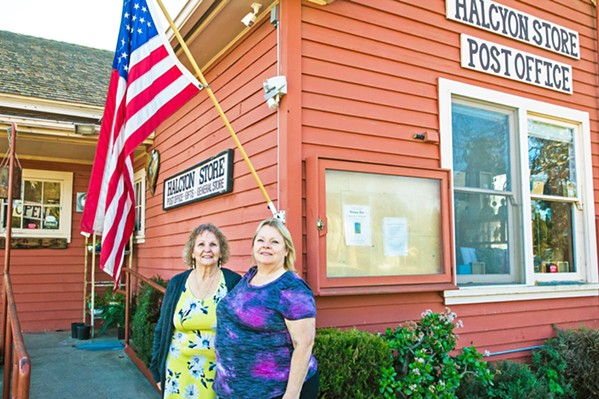 SAYING GOODBYE From left to right: Sandra Strohman and her daughter, Louise Welch, have operated the Halcyon Store and Post Office since 2015. The shop, one of the oldest commercial operations in the area, is closing in March. - PHOTO BY JAYSON MELLOM