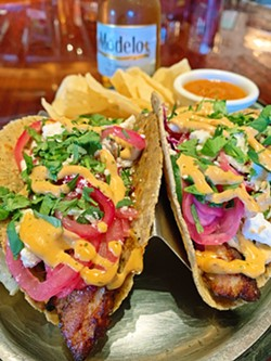 TACO TIME The Siren El Chorro's taco bar brings you a choice of asada, chicken, shrimp, pork belly, breaded fish, or vegetarian options. - PHOTOS COURTESY OF STEPHANIE STILES