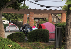 TENTS NOT ALLOWED SLO city will start enforcing a ban on tents in city parks, like Mitchell Park (pictured), as the homelessness crisis grows. - PHOTO COURTESY OF THE CITY OF SLO