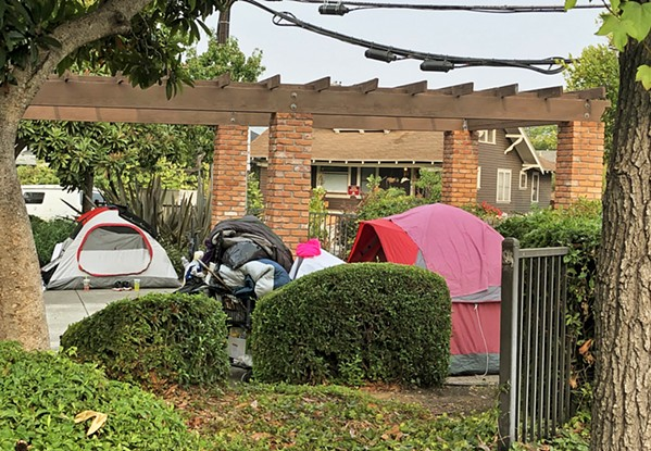CAMPED OUT Homeless encampments in city parks, like Mitchell Park (pictured), are becoming increasingly common on the Central Coast amid the pandemic. - FILE PHOTO COURTESY OF THE CITY OF SLO