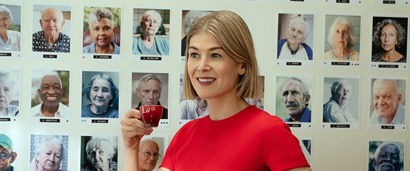 EASY TO HATE Rosamund Pike stars as Marla Grayson, a sleazy con artist who uses the legal system to acquire conservatorship over old people, allowing her to drain their finances under the guise of helping them, in the new Netflix film I Care A Lot. - PHOTO COURTESY OF BLACK BEAR PICTURES