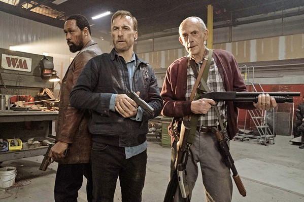 OLD GUYS RULE (Left to right) Harry (RZA), Hutch (Bob Odenkirk), and David (Christopher Lloyd)—a family of retired assassins—resurface to take down the Russian mob, in Nobody, in theaters now. - PHOTO COURTESY OF 87NORTH