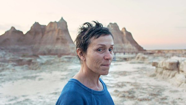 FINDING HER WAY After her husband dies and she loses her job, Fern (Frances McDormand) takes to the road in search of work, discovering a whole community of modern-day nomads like herself, in Nomadland, screening on Hulu. - PHOTO COURTESY OF COR CORDIUM PROUCTIONS