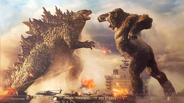 KAIJU THROWDOWN A giant lizard battles a giant ape in Godzilla vs. Kong, but we all know the real villain is humanity. - PHOTO COURTESY OF LEGENDARY ENTERTAIMENT