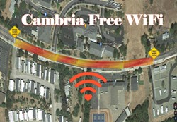 CONNECTION The Cambria Technology Collective expands on its free Wi-Fi program along Main Street in Cambria. - IMAGE COURTESY OF THE CAMBRIA TECHNOLOGY COLLECTIVE