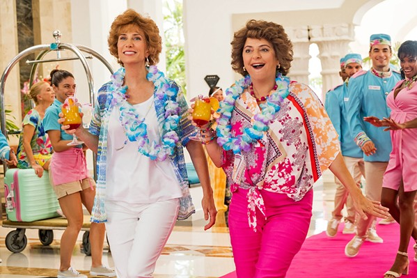 DREAM VACAY Star (Kristen Wiig, left) and Barb (Annie Mumolo) lose their jobs and decide to embark on a dream vacation, in Barb and Star Go to Vista Del Mar, available at Redbox. - PHOTO COURTESY OF GLORIA SANCHEZ PRODUCTIONS
