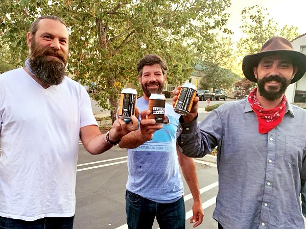 BREW CREW Trevor Freeman, Andrew Houghtaling, and Colin Princi (left to right) are the trio behind San Luis Obispo's Corberosa Premium Air-Roasted Coffee. - COURTESY PHOTO BY SCOTT STEVENSON