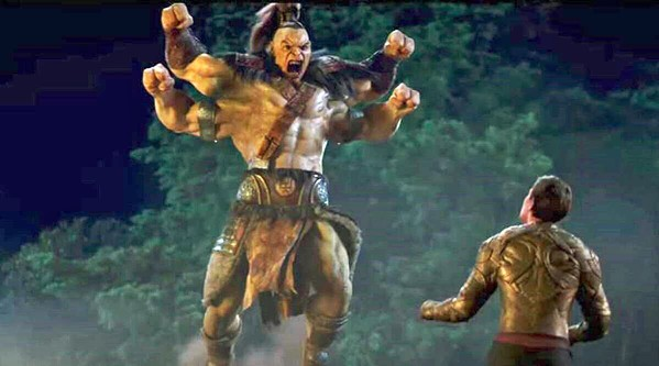 FIGHT NIGHT Goro (voiced by Angus Sampson, left) squares off against Cole Young (Lewis Tan), in the newest installment of the Mortal Combat franchise, screening on HBO Max and in local theaters. - PHOTO COURTESY OF NEW LINE CINEMA