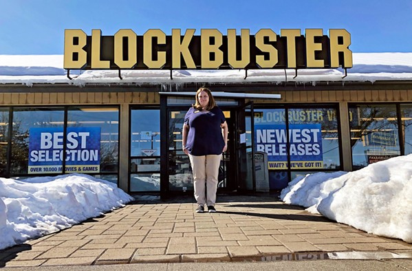 LAST STORE STANDING The death of video stores is chronicled in The Last Blockbuster, a Netflix documentary featuring Sandi Harding, who runs the Bend, Oregon, store. - PHOTO COURTESY OF POPMOTION PICTURES