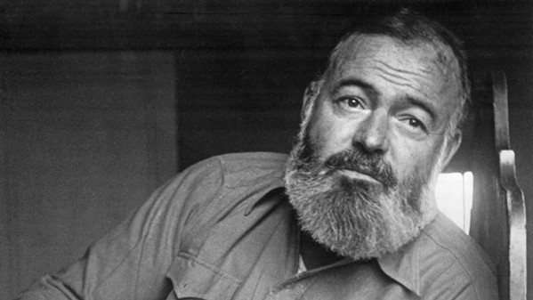A MAN'S MAN In Hemingway, documentarian Ken Burns closely examines the life and times of American writer Ernest Hemingway, in a three-part series screening on PBS. - PHOTO COURTESY OF FLORENTINE FILMS, GETTY IMAGES, AND PBS