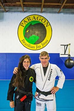 BEST MARTIAL ARTS STUDIO Mallory and Chris Lovato take students to the next level at their Paragon Brazilian Jiu Jitsu studios. - PHOTO BY JAYSON MELLOM