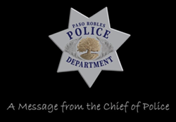 TWO SIDES Paso Robles Police Chief Ty Lewis said he removed a thin blue line flag in an effort to respect the various viewpoints surrounding the flag. - IMAGE COURTESY OF THE PASO ROBLES POLICE DEPARTMENT FACEBOOK PAGE