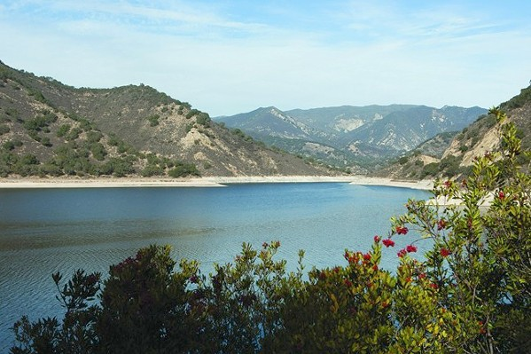 CONSERVE Below-average rainfall this past winter led to low levels in Lopez Lake, a SLO County reservoir. Now Grover Beach is trying to incentivize water conservation. - FILE PHOTO BY STEVE E. MILLER
