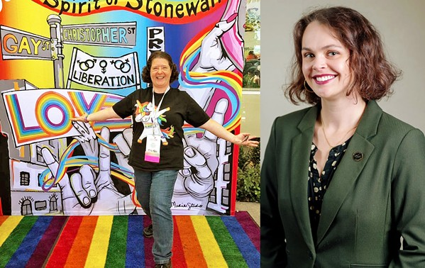 ON THE AIR Gala Pride and Diversity Center Executive Director Michelle Call (left) and Center Coordinator Serrina Ruggles (right) will be recurring guests on Dave Congalton's monthly talk radio segment regarding LGBTQ-plus issues. - PHOTOS COURTESY OF MICHELLE CALL