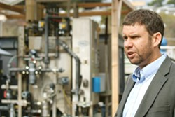 ROCKY PARTNERSHIP Water Systems Consulting Engineer Dan Heimel leads a 2019 tour of a water recycling facility. The Central Coast Blue project would inject treated wastewater into the Santa Maria Valley Groundwater Basin. - RENDERING COURTESY OF CAPSLO