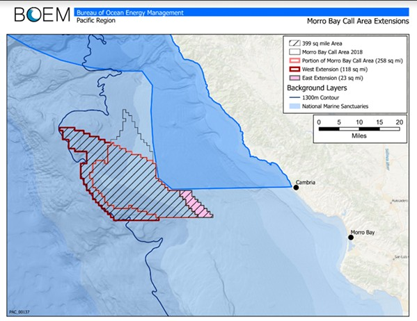 OFF SHORE A wind farm project off the coast of Morro Bay is back on track after a two year halt by the U.S. Navy. - IMAGE COURTESY OF SALUD CARBAJAL
