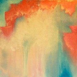"""TRANSCENDENCE Many of Christine Marie's paintings don't have titles, but she said, """"Occasionally, during the process of creation, a title reveals itself to me."""" - IMAGE COURTESY OF CHRISTINE MARIE"""