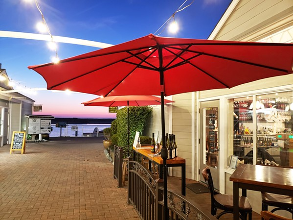 ON THE WATER Just steps from a sweet view of Morro Bay, Absolution Cellars took its spot next to Chateau Margene on the Embarcadero in February 2020. - PHOTOS COURTESY OF DIRK NEUMANN