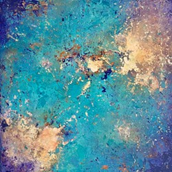 """UNTITLED Do you see clouds, a snowstorm, flowers? Abstract art triggers memories and emotions in its viewers, to, as Arshile Gorky said, allow a person to """"see with his mind what he cannot physically see with his eyes."""" - IMAGE COURTESY OF CHRISTINE MARIE"""
