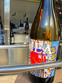 FAMILY VENTURE MEA Wine is a true family business. This chardonnay label (pictured) is artwork made by the owners' 12-year-old son. - PHOTOS COURTESY OF MEA WINE