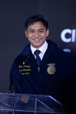 MAKING HISTORY Pioneer Valley High School senior Marc Cabeliza is the first Pioneer Valley High School FFA member to be elected president of the California FFA Association. - PHOTO COURTESY OF TYLER DICKINSON