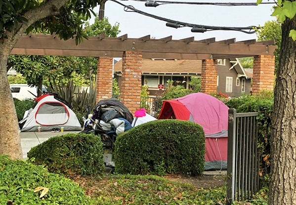 NO TENTS After tents and homelessness proliferated in San Luis Obispo's Mitchell Park over the winter of 2020-21, the city of SLO cracked down. - FILE PHOTO COURTESY OF THE CITY OF SLO