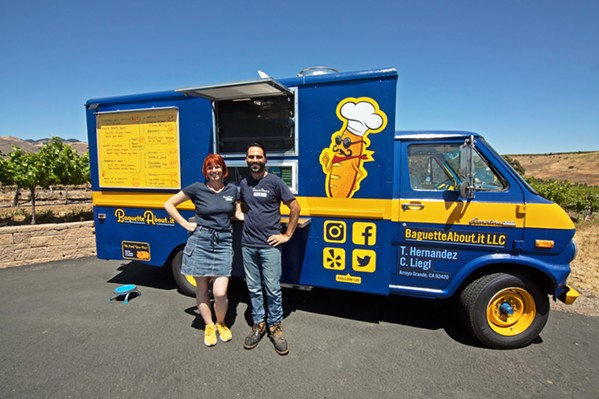 ELEVATED EXPERIENCE Co-owners Conny Liegl (left) and Thomas Hernandez (right) hope to change people's perceptions of food trucks as greasy fast-food providers. - COURTESY PHOTO BY PATRICK KAMMERMEYER