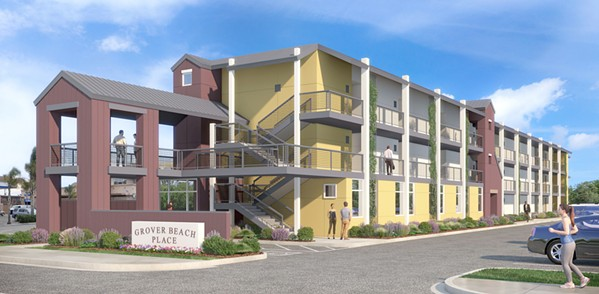 AFFORDABLE Grover Beach City Council showed support for a 53-unit housing project at 1206 West Grand Ave. and 164 South 13th St. - IMAGE COURTESY OF GROVER BEACH