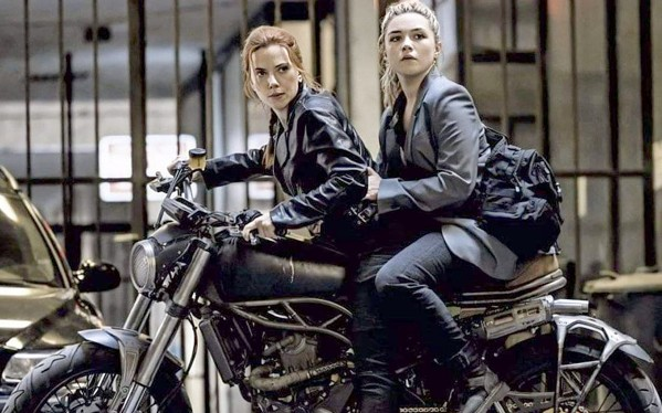 SIBLING RIVALRY Sisters Natasha Romanoff (Scarlett Johansson, left) and Yelena Belova (Florence Pugh, right) have to put aside their differences and work together to save the world from evil, in Black Widow. - PHOTO COURTESY OF DISNEY PLUS AND MARVEL STUDIOS