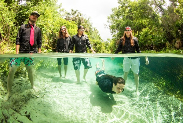 TAKE THE PLUNGE Kash'D Out headlines a four-band reggae show at SLO Brew Rock on July 29. - PHOTO COURTESY OF KASH'D OUT