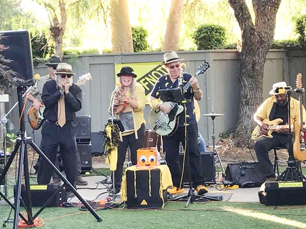 PARTY BAND Super fun New Orleans-infused boogie blues band The Cliffnotes play the Savory Palette on July 24 and Stolo Vineyards on July 29. - PHOTO COURTESY OF THE CLIFFNOTES
