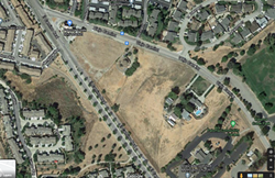 COMPATIBLE? On June 25, Scott Newton filed a civil lawsuit in SLO County Superior Court alleging that the city of Atascadero and two of its City Council members over their rejection of his application to build a self-storage facility and caretaker's residence between Viejo Camino and El Camino Real streets in Atascadero. - IMAGE FROM GOOGLE MAPS