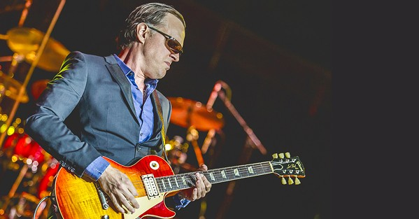 SHREDDER Guitar wiz Joe Bonamassa plays Vina Robles Amphitheatre on July 31. - PHOTO COURTESY OF JOE BONAMASSA