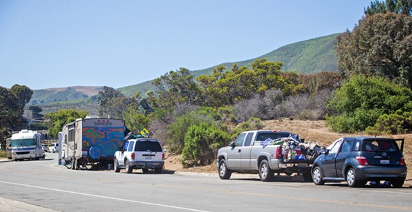 CAR LIVING The Los Osos community is looking for solutions to the growing number of unhoused residents living in vehicles on Palisades Avenue, near the park, community center, and library. - FILE PHOTO BY JAYSON MELLOM