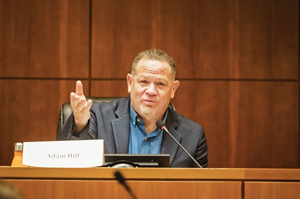CORRUPTION Late SLO County 3rd District Adam Hill accepted $32,000 in bribes from cannabis businessman Helios Dayspring, according to the U.S. Department of Justice. - FILE PHOTO BY JAYSON MELLOM