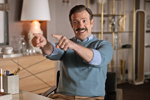 ALL HEART Jason Sudeikis stars as an indefatigable American college football coach who's hired to turn around a struggling Premier League London football club, in the surprisingly emotive Apple TV Plus series Ted Lasso, now in season 2. - PHOTO COURTESY OF RUBY'S TUNA, UNIVERSAL TELEVISION, AND DOOZER