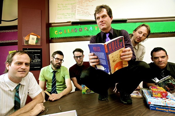 'DANGER! HIGH VOLTAGE' Electric Six will mix garage rock, disco, punk, new wave, and metal into a mélange so head-scratchingly amazing you'll swoon, on Aug. 29, at The Siren. - PHOTO COURTESY OF ELECTRIC SIX