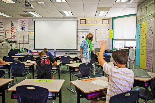 MASKING UP The state requires everyone to mask up in the classroom this year, and local parents have varying views on the mandate. - FILE PHOTO BY JAYSON MELLOM