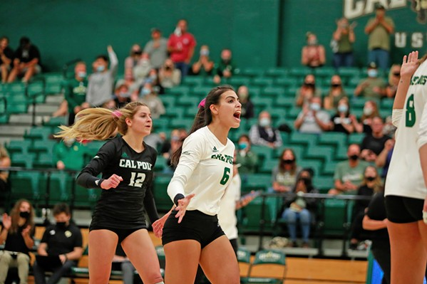 JUBILATION AT LAST Cal Poly Volleyball athlete Taylor Rose looks forward to the thrill of being on the court after the long hiatus. - PHOTOS COURTESY OF CAL POLY ATHLETICS COMMUNICATIONS