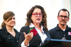 LOOKING FOR A REPLACEMENT SLO Mayor Heidi Harmon (pictured) is resigning from her post on Sept. 26. The SLO City Council plans to fill her vacancy with an appointment. - FILE PHOTO BY JAYSON MELLOM