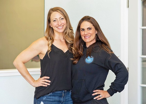 DANCE FLOOR DUO FLEX Performing Arts, which celebrated the grand opening of its studio in Grover Beach at the end of August, was co-founded by longtime Central Coast locals Brianna Deveraux-Allen (left) and Jennine Dunne (right). - COURTESY PHOTOS BY TRACY WAITKUS PHOTOGRAPHY