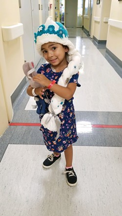 LITTLE WARRIOR Ariya Ramos (pictured), of Santa Maria, was diagnosed with neuroblastoma in 2018 when she was just 3 years old. After more than a year of treatment, including chemotherapy, Ramos entered the first grade this fall. - PHOTO COURTESY OF TEDDY BEAR CANCER FOUNDATION