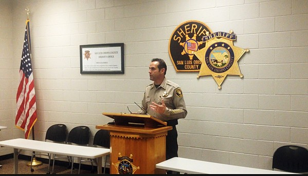 CONFIRMING THE PROBLEM SLO County Sheriff Ian Parkinson called a diverse coalition of community members to collect data and stories that is an accurate representation of issues plaguing minorities. - FILE PHOTO BY CHRIS MCGUINNESS